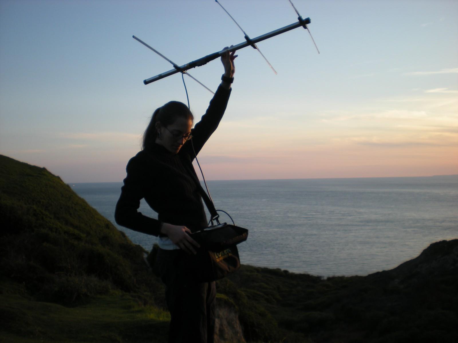 Radio-tracking, Isle of Wight 2010, photo: Rachael Cooper-Bohanon