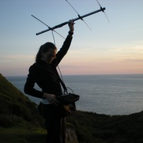 Radio-tracking, Isle of Wight 2010, photo: Rachael Cooper-Bohanon